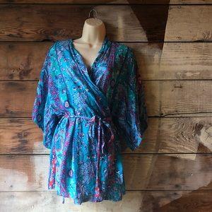 Josie Natori Size Small Paradise Found Wrap Robe